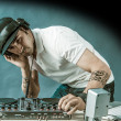 DJ at work - Foto Stock
