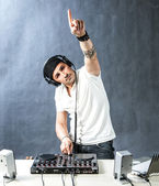 DJ at work — Foto Stock