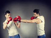 Boxer match — Stock Photo