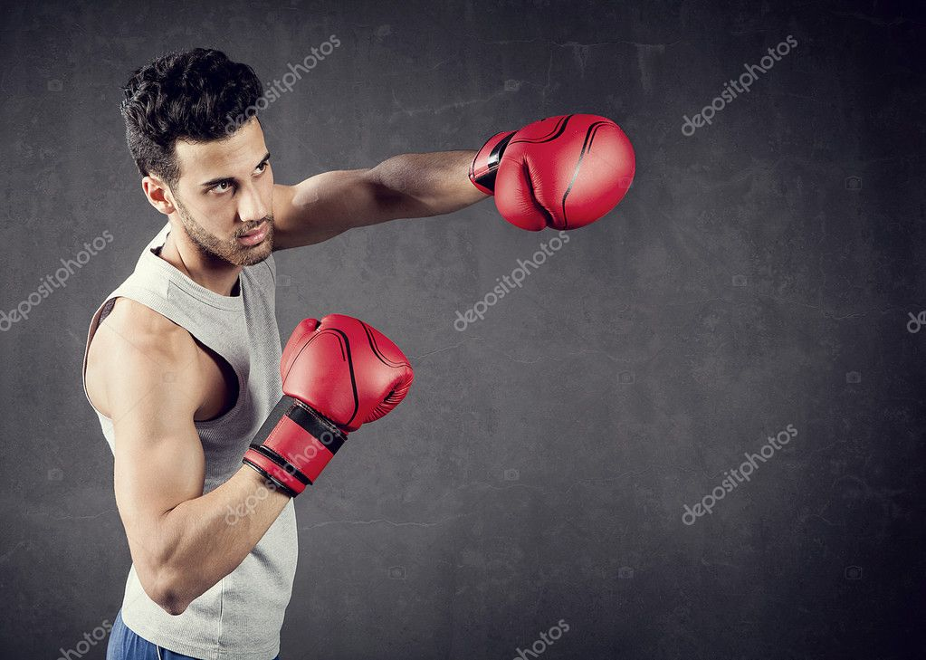 Background photo with copyspace of boxer — Stock Photo #11929765