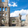 Ancient Theater in Aosta - Italy - Stock Photo