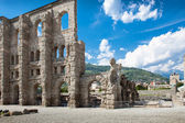 Ancient Theater in Aosta - Italy — Stock Photo