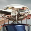 Stock Photo: Helicopter rotors