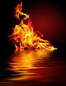Vuur en water — Stockfoto