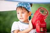 портрет мальчика 3-4 лет — Стоковое фото