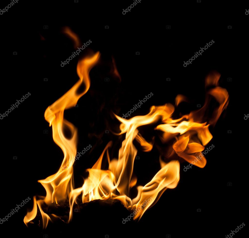 Fire flames on black background — Stock Photo #12160301