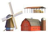 Rural buildings — Stock Photo