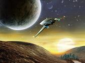 Space adventure — Stock Photo