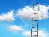 Stairs to the clouds — Stock Photo