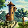Mage tower - Foto Stock