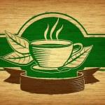 Tea label — Stock Photo