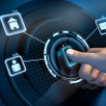 Fingerprint access — Stockfoto