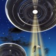 Ufo abduction - Stock Photo
