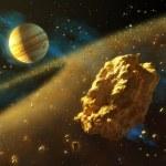 Asteroids belt — Stock Photo