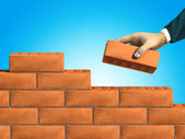 Wall building — Stock Photo