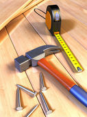 Woodwork tools — Stock Photo