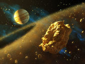 Asteroids belt — Stock Photo