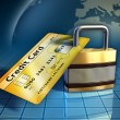 Credit card security — Stock Photo