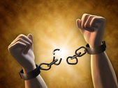 Breaking chains — Stock Photo
