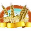 Stock Photo: Wheat label