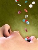 Medikamenten-übergebrauch — Stockfoto