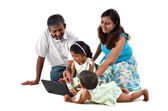 Indian family — Stock Photo