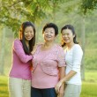 Stock Photo: Asimother and daughters