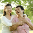 Asian mother and daughter — Stock Photo
