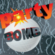 Party bomb vector concept — Stock Vector