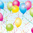 Beautiful Party Balloons Vector - Stockvectorbeeld