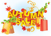 Autumn sale abstract vector picture — Vettoriale Stock