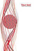 抽象球空白 — 图库矢量图片