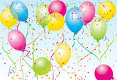 Piękna impreza balony wektor — Wektor stockowy