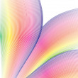 Rainbow flower macro vector -  