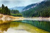 Jezero galbenu v rumunsku — Stock fotografie