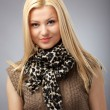 Fashionable young woman with scarf — Stock Photo #10927091