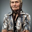 Stock Photo: Elderly womwith kerchief