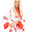 Lady in bathrobe — Stock Photo #11448577