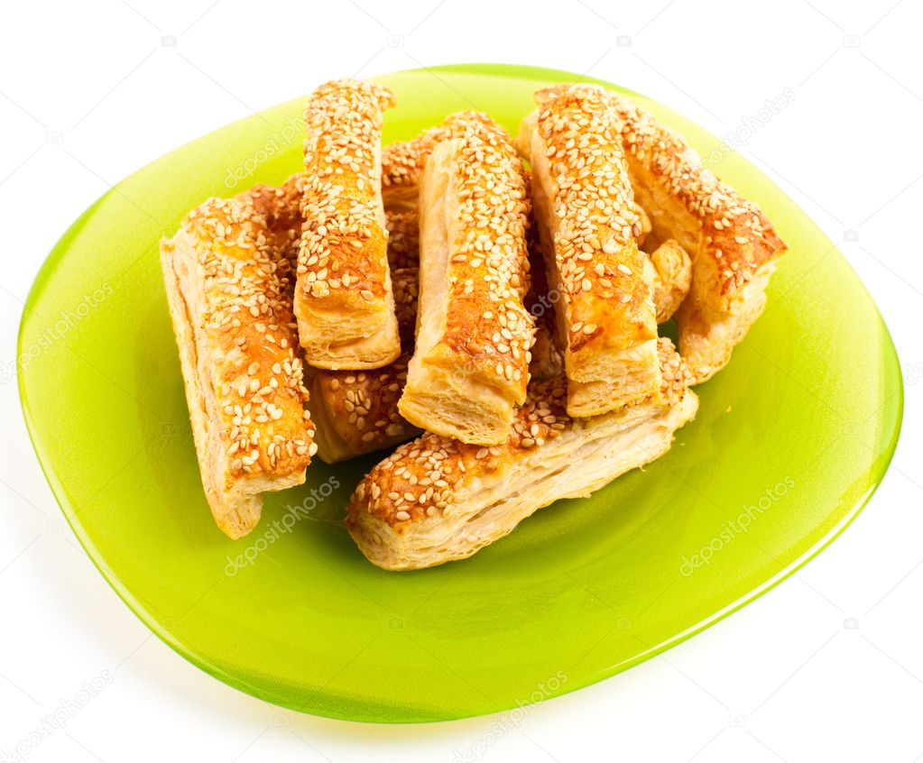 Cheese sticks crackers with sesame seeds  Stock Photo #11448752