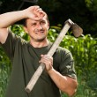 Stockfoto: Farmer after day of work