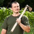 Farmer after a day of work — Stock Photo #11688753