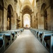 Interior of Roman Catholic church — Stock Photo