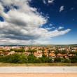 Aerial view of Alba Iulia city - Foto Stock