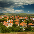 Aerial view of Alba Iulia city — Stock Photo