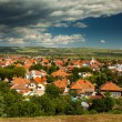 Aerial view of Alba Iulia city - Stock Photo