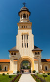 Entrance in Coronation Cathedral from Alba Iulia — Stock Photo