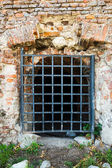 Wall with grates — Stock Photo