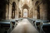 Interior of Roman Catholic church — Stock Photo