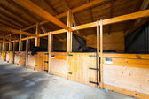 Stable with horses — Stock Photo