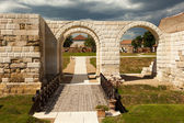 Apulum Roman castra in Romania — Stock Photo